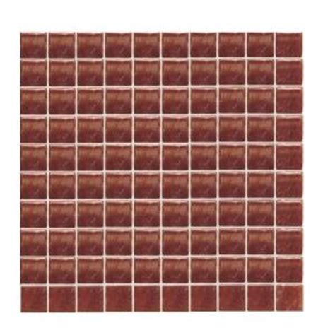 daltile sonterra glass terra cotta iridescent 12 in x 12