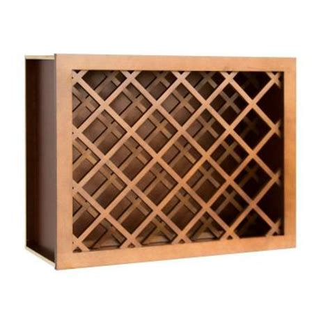lakewood cabinets 24x30x12 in all wood wall wine rack