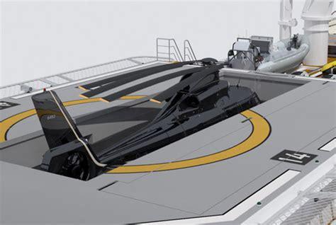 Designer Knife sea axe yacht support vessels heli hangar option