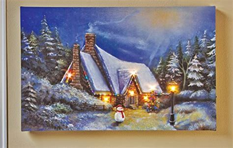 decorative led lighted snow cottage christmas village