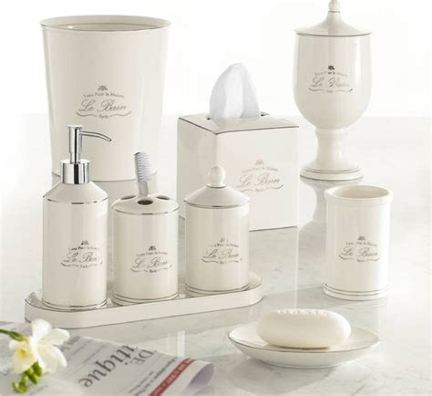 Vintage Kitchen Canister Set la bain cream porcelain parisian style bath accessories