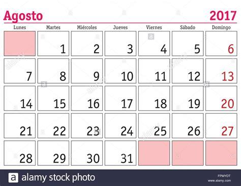 Calendã Agosto 2017 August Month In A Year 2017 Wall Calendar In