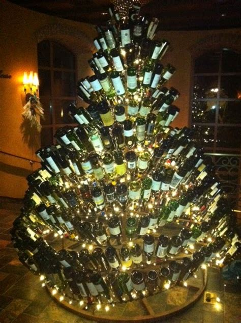 christmas tree made from wine bottles classic with a twist wine bottle decor