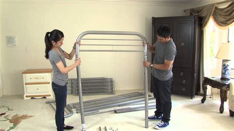 how to put together a metal bed frame assembly video metal bunkbed twin twin and twin futon