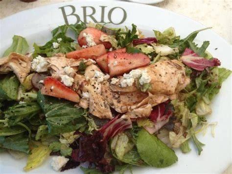 brio salads strawberry balsamic chicken salad on the terrace picture