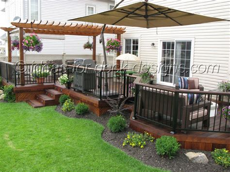Deck And Patio Ideas For Small Backyards Ideas For Deck Designs 7 Backyard Deck Idea Patio Design Newsonair Org
