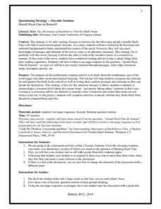 socratic seminar lesson plan template huckleberry finn lesson plans worksheets reviewed by