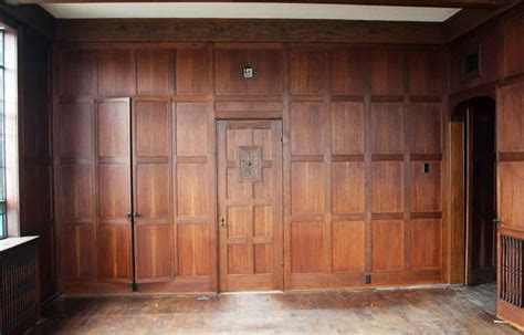 wood walls in house solid oak arts crafts wood paneled room olde good things