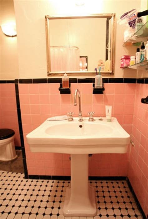 33 pink and black bathroom tile ideas and pictures