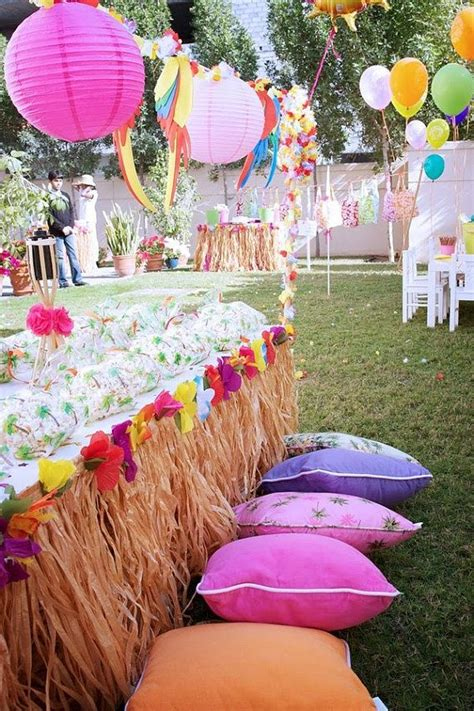 luau hawaiian birthday party party ideas pinterest