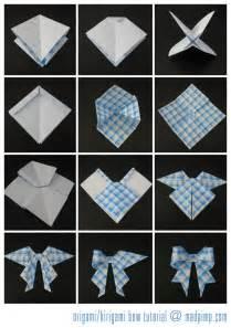 Origami bow tutorial