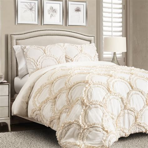 lush d 233 cor chic comforter ivory 3pc set king home bed