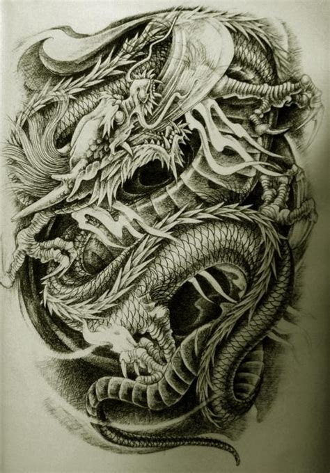 asian dragon tattoos designs style 8 martial arts