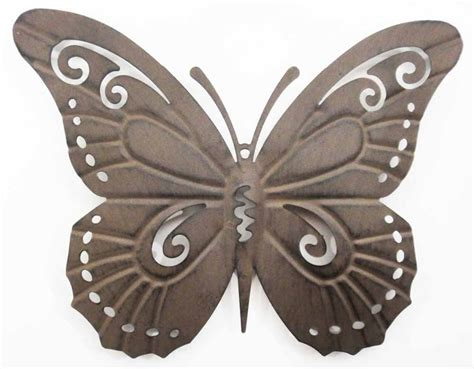 Kalung B296 Simple Rustic Butterfly Wall Metal Wall Picture Rustic Butterfly
