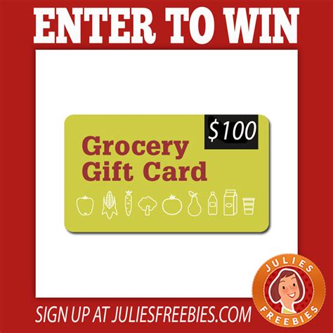 Win Gift Cards Free - win grocery store gift card julie s freebies
