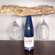 Half Log Wood Wine Bottle Topper   Natural Wood   ManMadeWoods