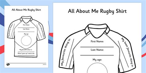 design t shirt lesson plan all about me rugby shirt worksheet rugby shirt all about me