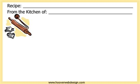 recipe card template deer pdf printable bakers recipe cards