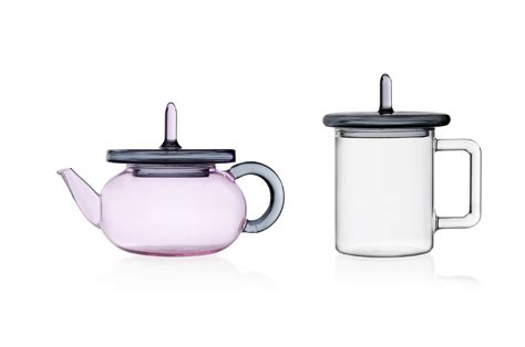 2511 Alg Set Pink ichendorf set collection merlino 1 pink teapot and 6 mugs with grey cork until stock
