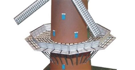 Windmill Papercraft - ninjatoes papercraft weblog papercraft windmill quot d
