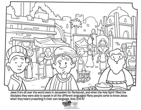 Acts 5 Coloring Pages by At Pentecost Whats In The Bible