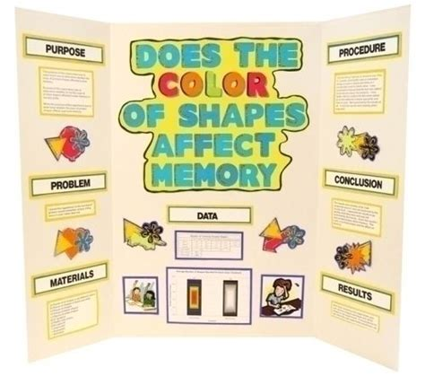 make a science fair project about colors and memories