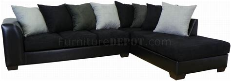 Black Fabric Sectional Sofa Black Fabric Bicast Upholstery Modern Sectional Sofa