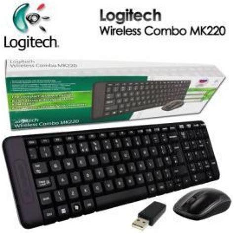Keyboard Wireless Logitech K220 logitech mk220 keyboard mouse combo range wireless