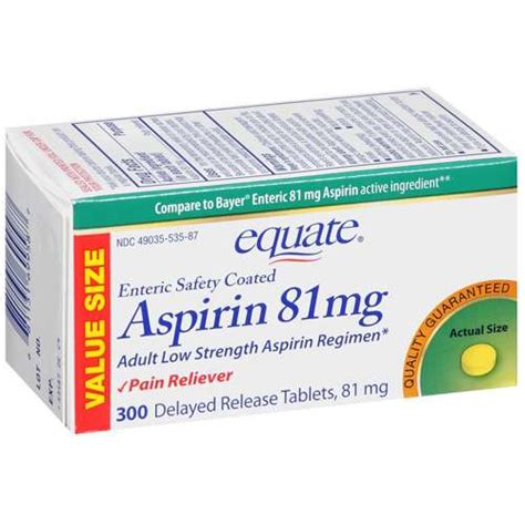 aspirin walmart equate low dose aspirin 81 mg reliever tablets 300ct walmart