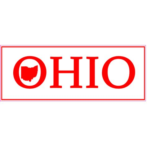 Stiker Ogio ohio bumper sticker with state u s custom stickers