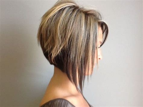 short stacked hairstyles with short sides side view of graduated bob haircut cute short haircut