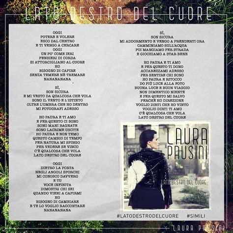 testo pausini pausini dal 25 settembre il nuovo singolo lato