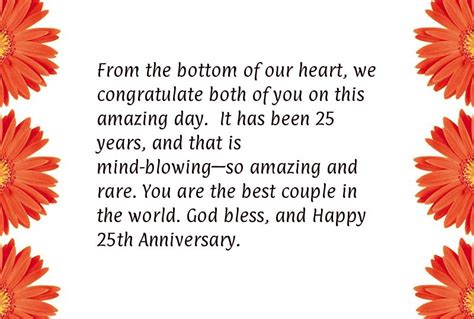 Silver Wedding Anniversary Quotes For by Happy 25th Wedding Anniversary Wishes