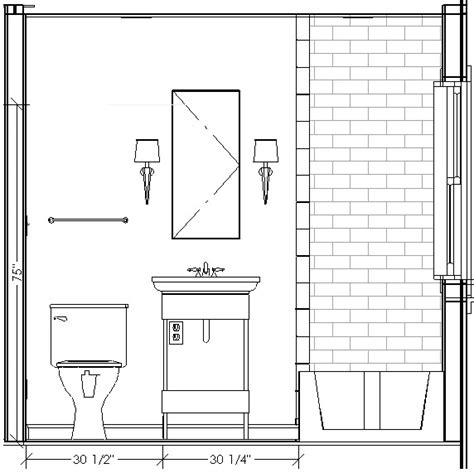 section of a toilet bathroom elevation drawings this is the same layout as