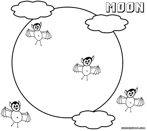 coloring page of full moon full moon colouring page coloring book printable