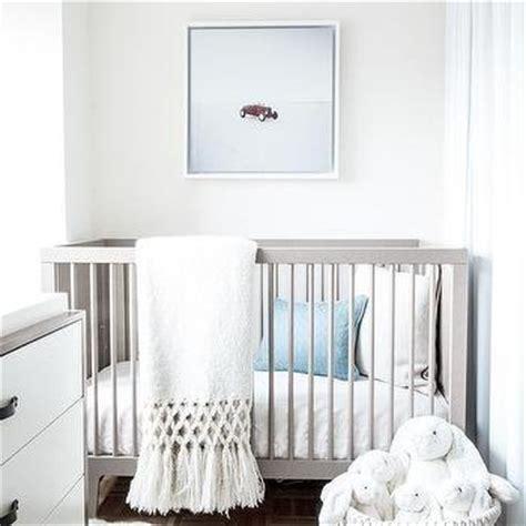 White Crib For Boy by Oeuf Sparrow Crib Gray Nursery Lonny