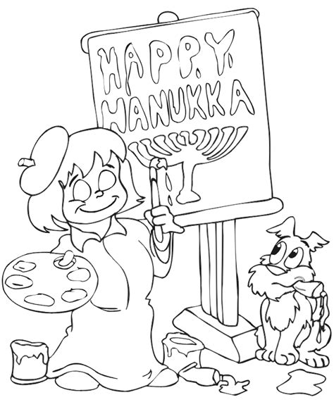 coloring page hanukkah free printable hanukkah coloring pages for kids best