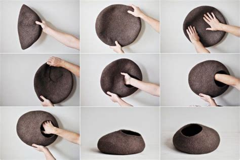 cat cave bed felted cat cave house wool cat cave by shpilkafelt cat beds caved pinterest wool