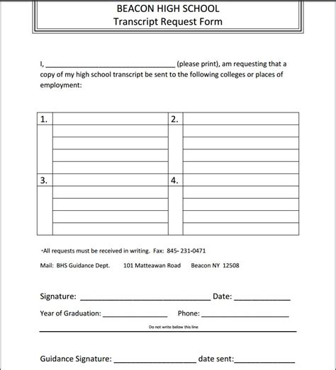 transcript request form guidance transcripts working papers homework requests
