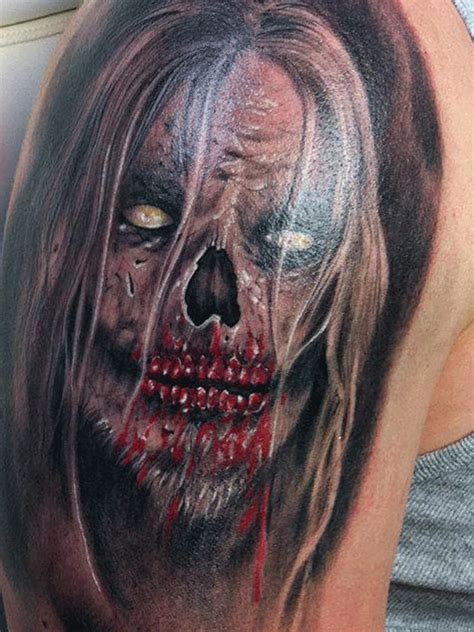 tattoo 3d zombie 24 scary tattoo designs images and picture gallery