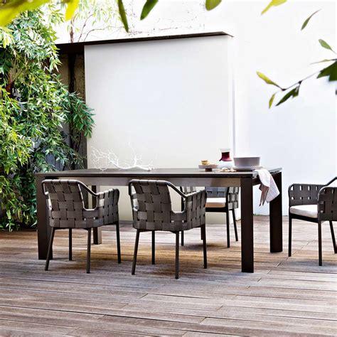 tavolo da esterno allungabile tavolo allungabile da giardino varaschin dolmen moderno in