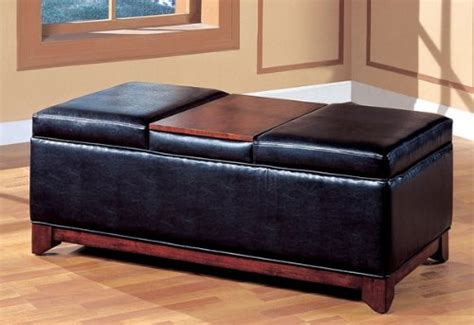 Cheap Ottomans And Footstools Rating Review Black Vinyl Cheap Wooden Ottoman