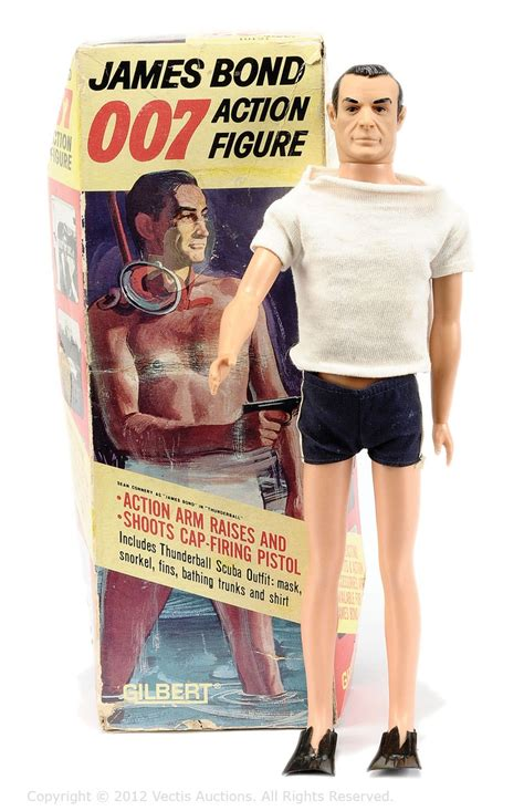 the complete james bond 1785653210 gilbert no 16101 james bond 007 action figure wearing blue shorts white t shirt complete with
