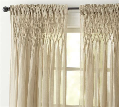 smocked curtains pb smocked drapes love there s no place like home
