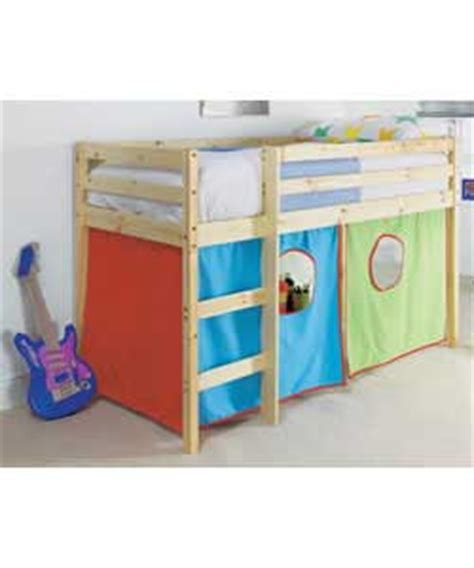 Shorty Mid Sleeper Bed With Tent by Shorty Mid Sleeper With Tent Baby Cots And Cot Bed