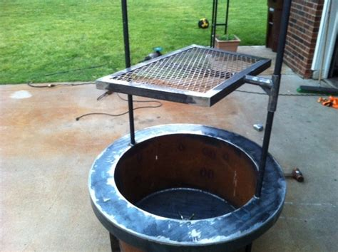 pit cooking grates build a pit with cooking grill in your backyard