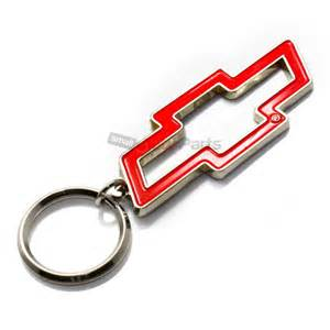 chevy bowtie logo chrome metal key chain ring fob ebay