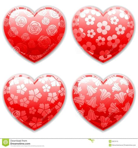 valentines sets valentines day hearts set stock vector image of