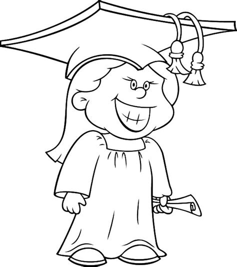 graduation girl coloring page graduation cap coloring page coloring home