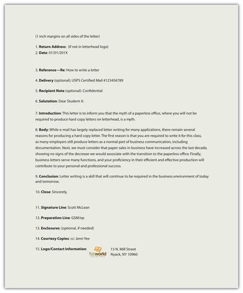 Business Letter Meaning In Technical Writing Memorandums And Letters Technical Writing